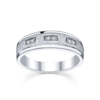 jcpenney.com | Mens 1/10 CT. T.W. Diamond Band Sterling Silver