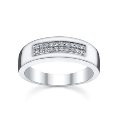 jcpenney.com | Mens 1/5 CT. T.W. Diamond Band Sterling Silver