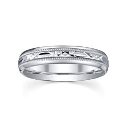 BEST VALUE! Womens 4mm Sterling Silver Wedding Band