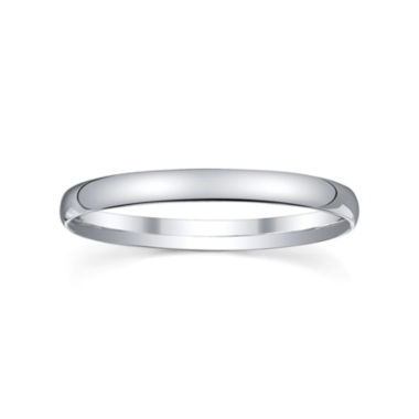 jcpenney.com |  Womens 2mm Silver Domed Wedding Band Ring