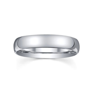 jcpenney.com | BEST VALUE! 4mm Silver Domed Mens Wedding Ring