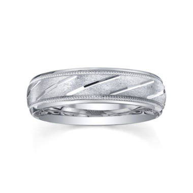 jcpenney.com | Mens 6mm Sterling Silver  Wedding Band