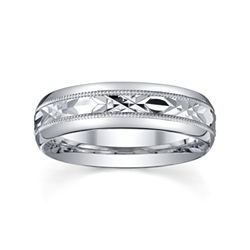 BEST VALUE! Mens Sterling Silver Wedding Band