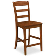 Alton Rustic Cherry Barstool with Back