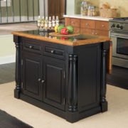 Drop-Leaf Monarch Kitchen Island with Granite Insert