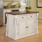 Drop-Leaf Antique White Monarch Kitchen Island