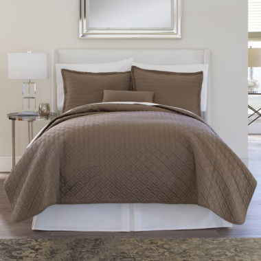 jcpenney.com | Royal Velvet® 400tc WrinkleGuard Quilted Coverlet & Accessories