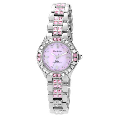 jcpenney.com | Armitron® Womens Silver-Tone Watch w/ Crystals