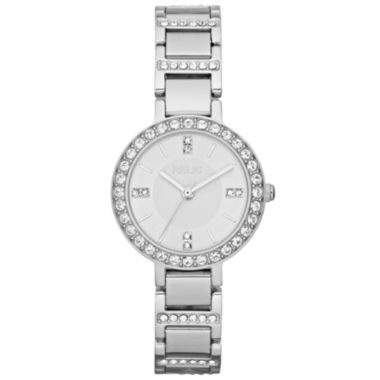 jcpenney.com | Relic® Womens Crystal-Accent Silver-Tone Bracelet Watch ZR34144