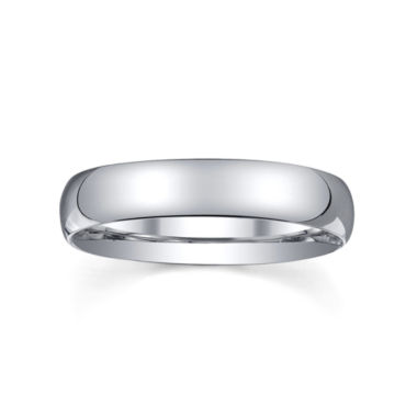jcpenney.com |  Womens 4mm Silver Domed Wedding Band Ring