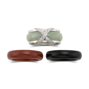 jcpenney.com | Jade and Onyx Interchangeable Ring