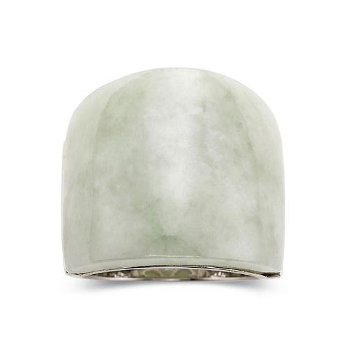 Jade Ring - Sterling Silver