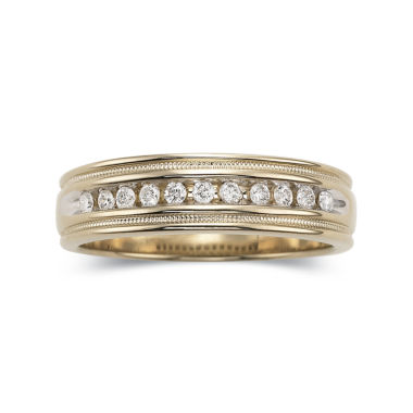 jcpenney.com | Men's 1/2 CT. T.W. Diamond Ring in 14K Gold Over Sterling