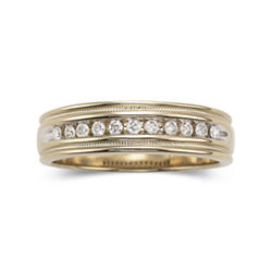 Men's 1/2 CT. T.W. Diamond Ring in 14K Gold Over Sterling