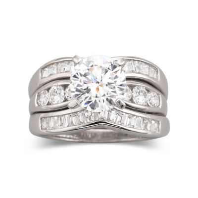 DiamonArt Cubic Zirconia Engagement 3Ring Set JCPenney