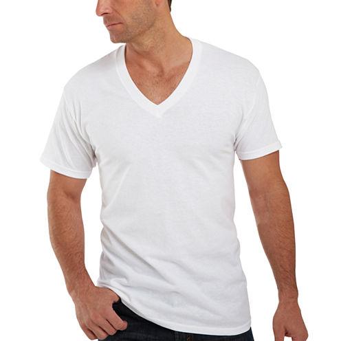Hanes® 3–pk. Cotton V–Neck T–Shirts - Big & Tall