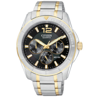 jcpenney.com | Citizen® Mens Black Dial Two-Tone Watch AG8304-51E
