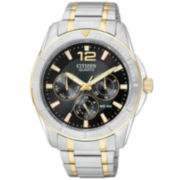 Citizen® Men's Black Dial Two-Tone Watch AG8304-51E