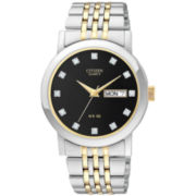 Citizen® Men's Two-Tone Crystal Accent Watch BK4054-53E