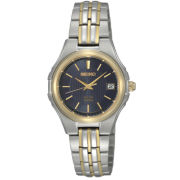 Seiko® Women's Two-Tone Blue Dial Watch