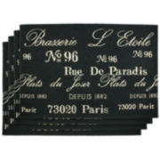 Park B. Smith Brasserie Set of 4 Placemats