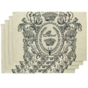 Park B. Smith® Paris Vintage Postage Set of 4 Placemats