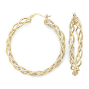 Twist Hoop Earrings, 14K/Sterling Silver