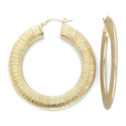 Wide Hoop Earrings, 14K/Sterling Silver