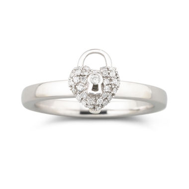 jcpenney.com | Personally Stackable 1/8 CT. T.W. Diamond Heart Ring