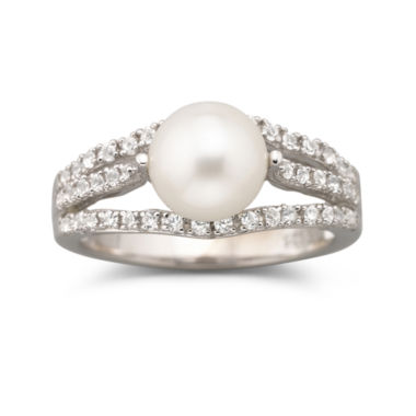 jcpenney.com | Cultured Freshwater Pearl & White Sapphire Ring