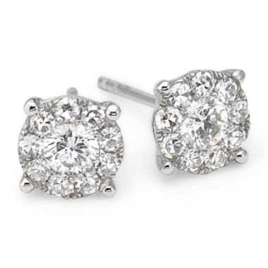 jcpenney.com | Brilliant Dream™ 1/2 CT. T.W. Diamond 14K White Gold Stud Earrings