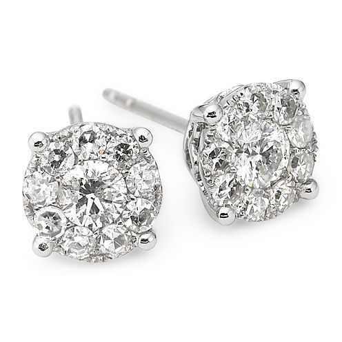Brilliant Dream™ 3/4 CT. T.W. Round Diamond Studs 14K White Gold