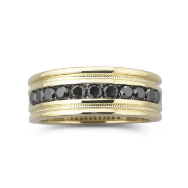 jcpenney.com | Mens 1/2 CT.T.W. Black Diamond Ring 14K Gold Over Silver