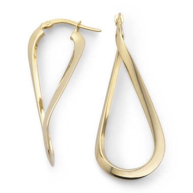 jcpenney.com | 10K Gold Wave Hoop Earrings