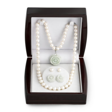 jcpenney.com | Cultured Freshwater Pearl & Jade Jewelry Set