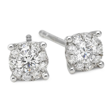 jcpenney.com | Brilliant Dream™ 1/3 CT. T.W. Round Diamond Stud Earrings 14K White Gold
