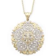 14K Gold-Over-Sterling Silver Medallion Pendant Necklace
