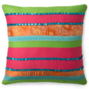 CLOSEOUT! Seventeen® Samantha Square Decorative Pillow