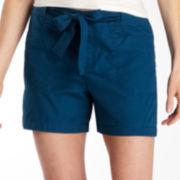 St. John's Bay® Tie-Waist Shorts