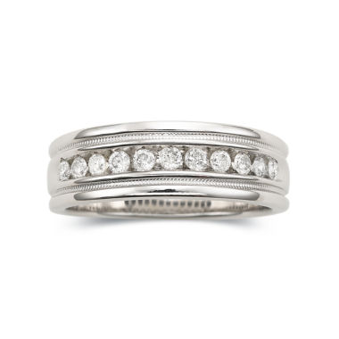 jcpenney.com | Mens 1/2 CT. T.W. Diamond Ring Milgrain Sterling Silver