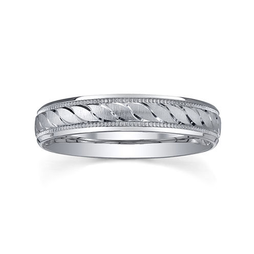 womens 4mm swirled silver wedding band ring - Wedding Rings Jcpenney