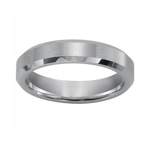 Mens Beveled Cobalt Ring