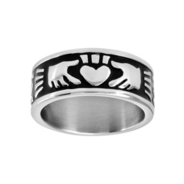 jcpenney.com | Mens 9mm Stainless Steel Claddagh Ring