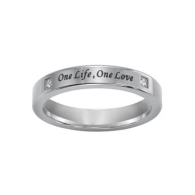 "jcpenney.com |  ""One Life, One Love"" Silver Ring w/Diamond Accents"