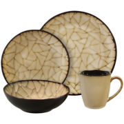 Gibson® Elite Zambezi 16-pc. Reactive Glaze Crackle Dinnerware Set