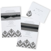 Gartner® Black Damask Invitation Kit