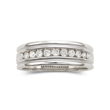 jcpenney.com | Mens 1/4 CT. T.W. Diamond Ring Milgrain Sterling Silver