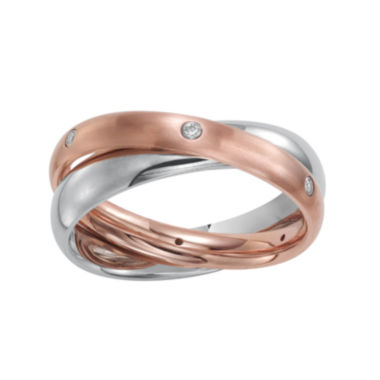 jcpenney.com |  Womens 3mm Two-Tone Stainless Steel Rolling Ring