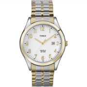 Timex® Mens Two-Tone Expansion Strap Watch