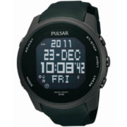 Pulsar® Mens Black Sports Digital Watch